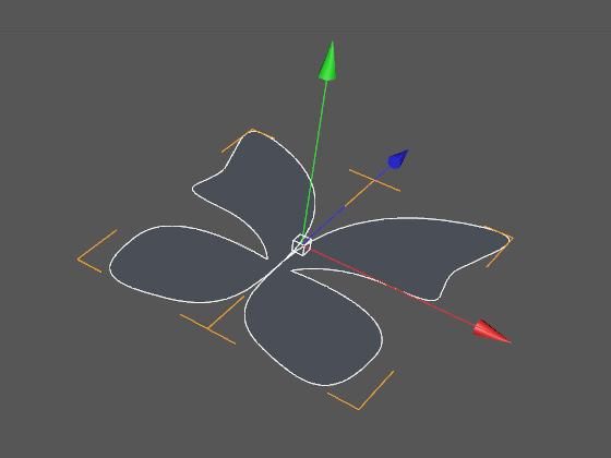 Создаём зеркальную копию крылышка бабочки