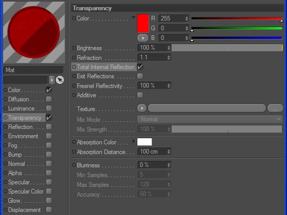 Настройка канала прозрачности в текстуре