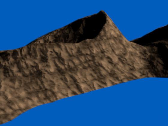 Рельеф на поверхности ландшафта