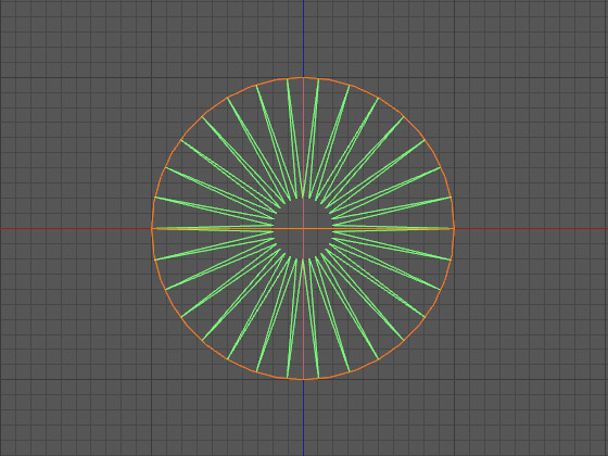 Сплайн развёрнут перпендикулярно диску