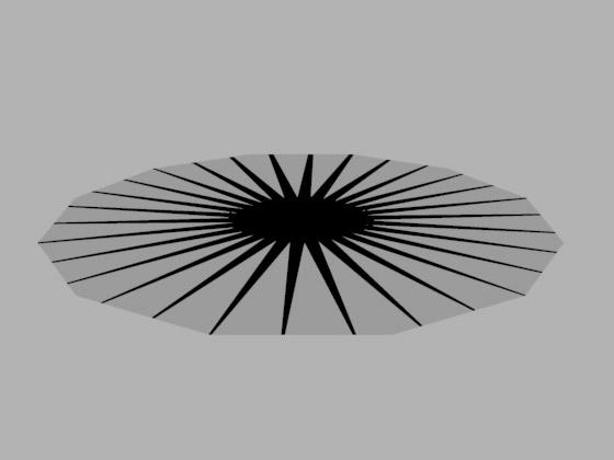 Теперь текстура звезды расположена на поверхности диска верно