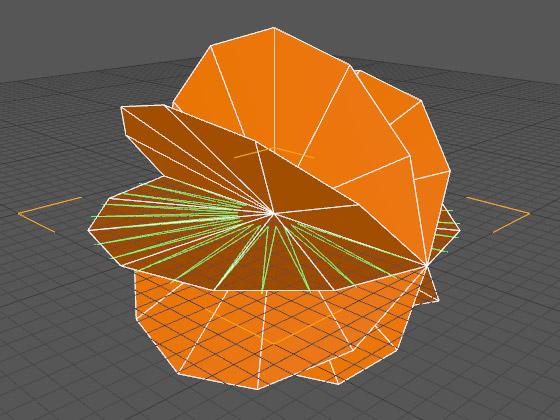 Поворачиваем клоны относительно исходной модели диска