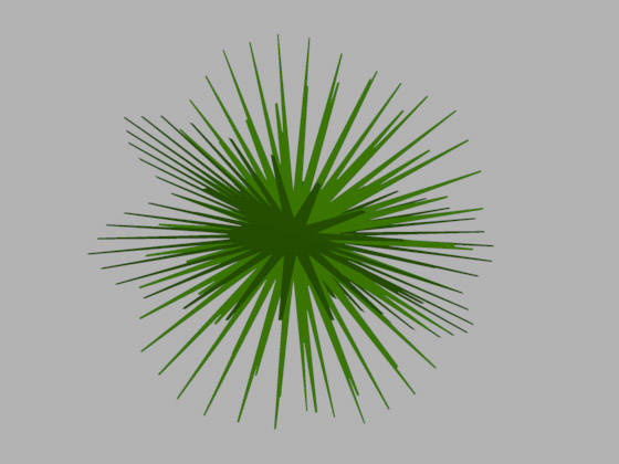 Пучок хвои для ветвей ёлки
