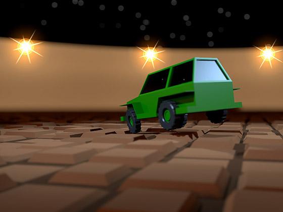 Движение автомобиля в соответствии с физической моделью