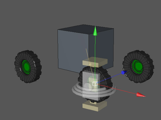 Размещаем коннектор в геометрическом центре колеса