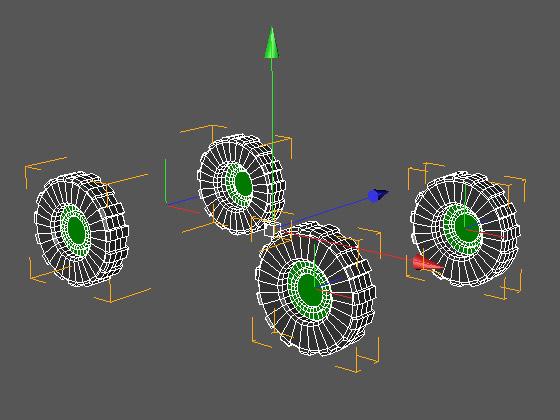 Задние колёса внедорожника стали одним трёхмерным элементом