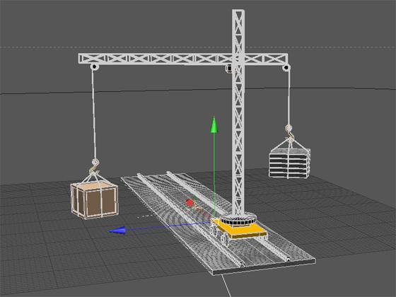 В нашем распоряжении имеется модель подъёмного крана