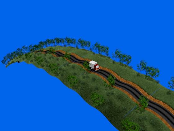 Бесконечный ландшафт для грузовичка