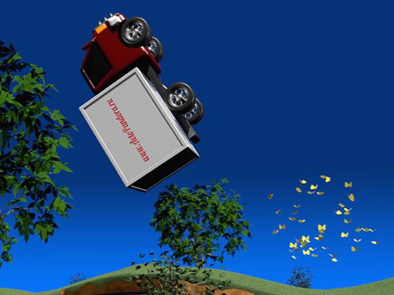 Финальный кульбит грузовичка