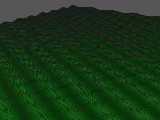 Чрезмерно упорядоченная мозаика волн на поверхности воды