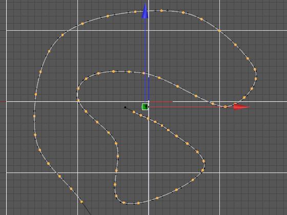 Создаём сплайн-траекторию и увеличиваем количество промежуточных точек