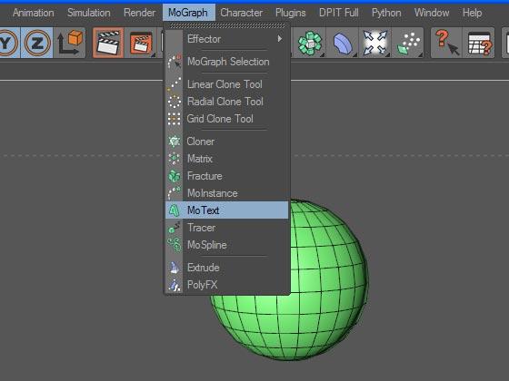 Создаём объект MoText