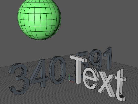 Объект MoText сразу же создаётся объёмным