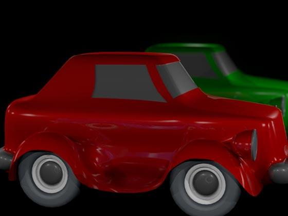 Теперь синий автомобиль невидим не только для камеры, но и для источников света