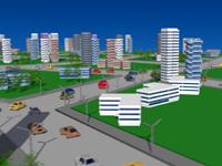 Жилой квартал 3D: пример трёхмерной сцены за 1 вечер