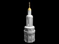 3D модель: Православная колокольня