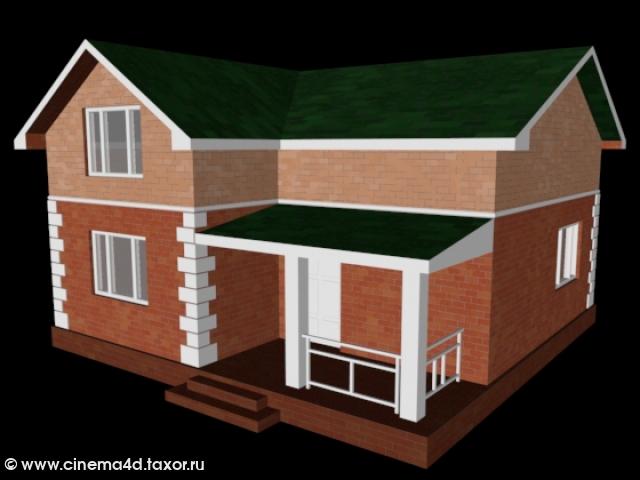 3D модель: Коттедж 2