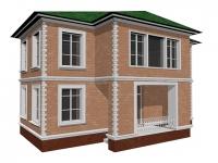 3D модель: Коттедж 3