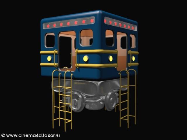 3D модель: Летняя беседка для поклонников метрополитена