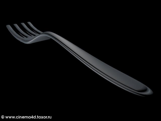 3D модель: Столовая вилка