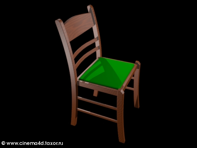 3D модель: Деревянный классический стул