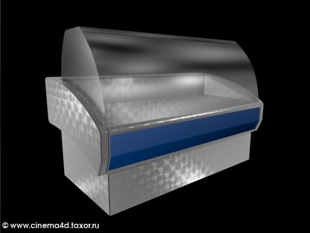3D модель: Морозильная витрина