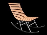 3D модель: Садовая скамейка-качалка