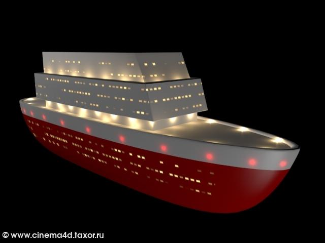 3D модель: Океанский лайнер