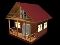 3D модель: Домик