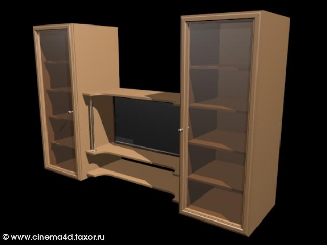 3D модель: Шкаф-стенка